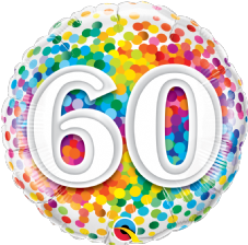 60th Birthday Confetti Design Foil Balloon